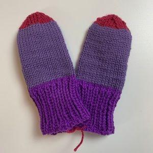 🔥Kids Hand Knit Mittens Colour Block